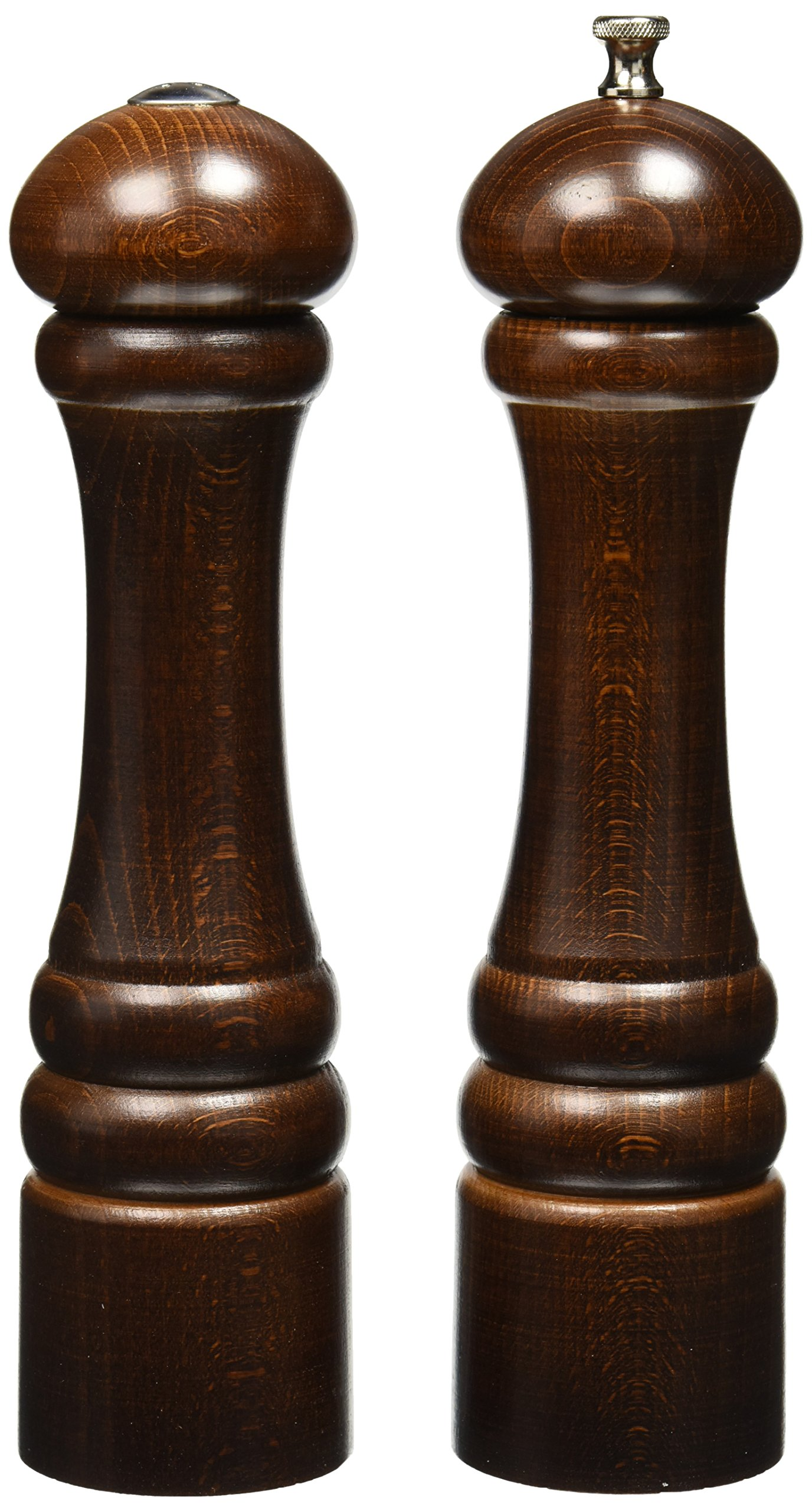 Chef Specialties 10'' Imperial Pepper Mill and Salt Shaker Set, Walnut by Chef Specialties