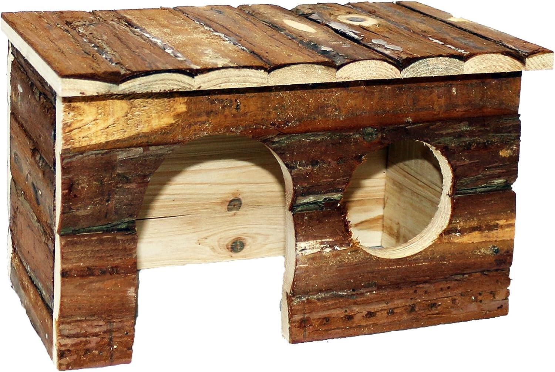 Pet Ting Natural Living Jerrik Log House 28 x 16 x 18 cm Hamster Rat Guinea Pig