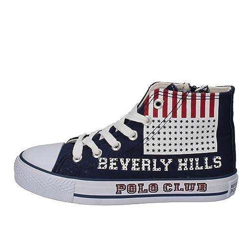 BEVERLY HILLS POLO CLUB Sneakers Niños Lona Azul 32 EU: Amazon.es ...