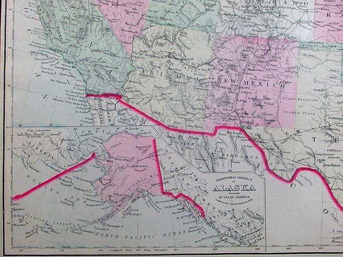 Amazoncom Us United States Russian America Alaska Texas Indian - Us-indian-territory-map
