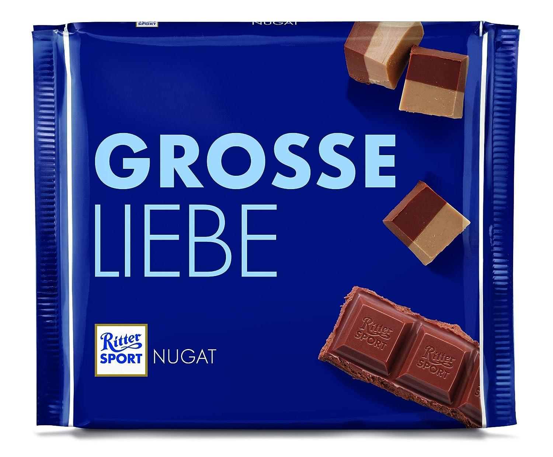 RITTER SPORT 250g Nugat (11 x 250 g), Große Tafel Schokolade mit ...