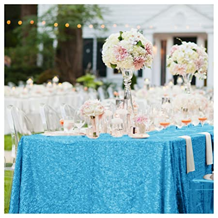 Turquoise Sequin Tablecloth, 48\'\'*72\'\' Turquoise Sequin Tablecloth ...