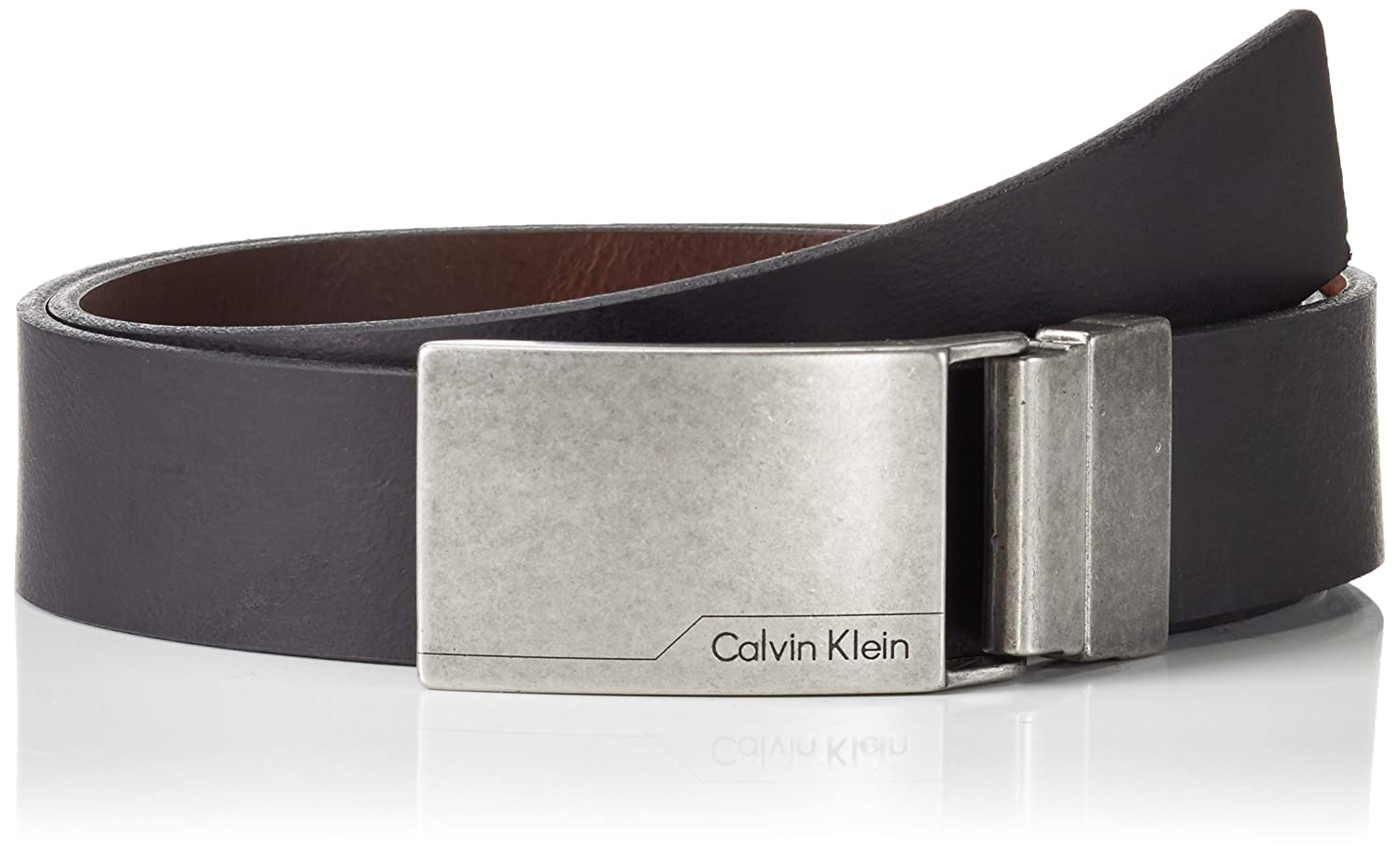Calvin Klein Jeans Herren Gürtel Reversible Adjustable Plaque Belt