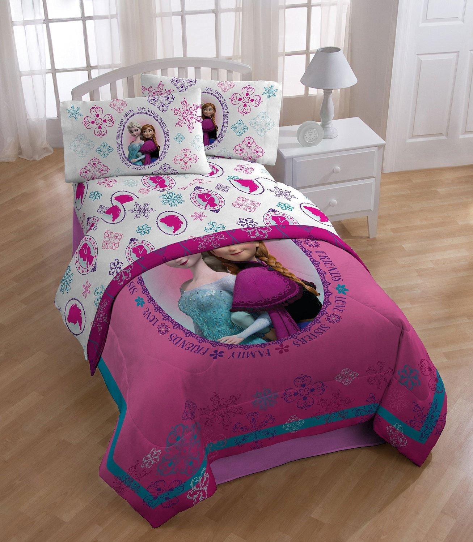 Amazon.com: 3pc Disney Frozen Twin Bed Sheet Set Anna And Elsa Snowflakes  Bedding Accessories: Home U0026 Kitchen