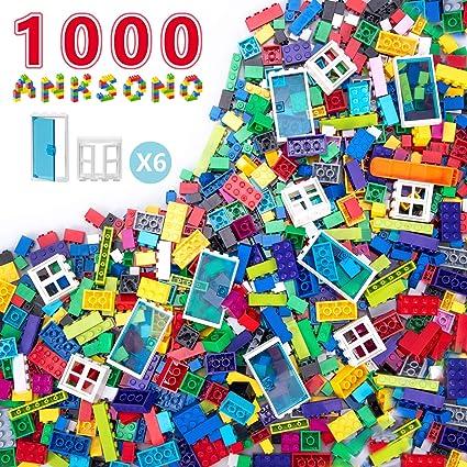 Building Bricks 1000 Pieces Set Classic Building Blocks in 11 Colors Compatible