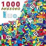 Anksono Building Bricks 1000 Pieces Set, 1000 Pcs Kids Classic Building Blocks in 11 Colors and 6Pcs Windows and Doors…