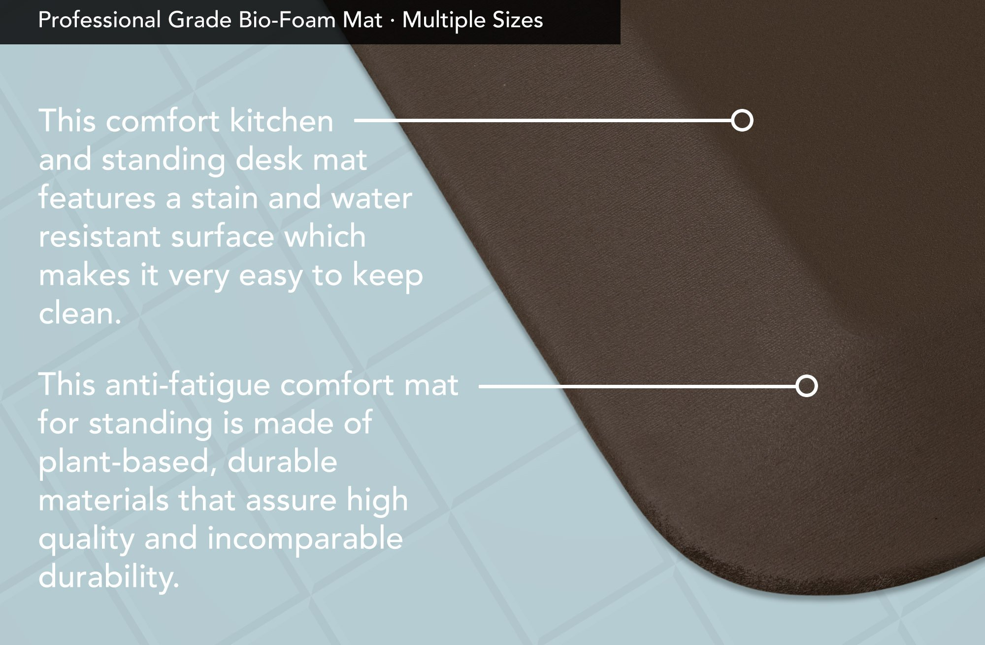 """NewLife by GelPro Professional Grade Anti-Fatigue Kitchen & Office Comfort Mat, 20x72, Earth ¾"""" Bio-Foam Mat with non-slip bottom for health & wellness by NewLife by GelPro (Image #4)"""