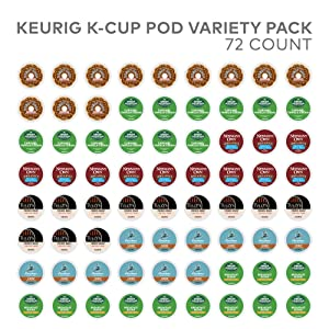 Keurig Variety Pack, Single Serve Coffee K-Cup Pod, Variety, 72, Amazon Exclusive