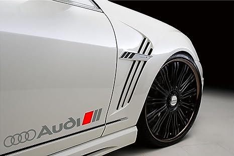 Amazon Com Audi Sport Racing Decal Sticker Emblem Logo Silver