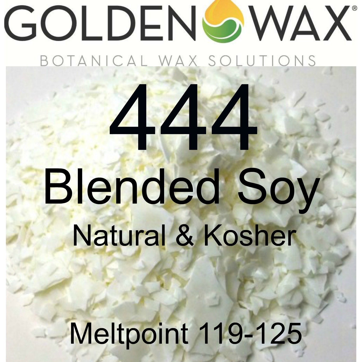 Pack of 1, 50 Lb Golden Brands Gw444 Soy Container Wax Blend for Candle, Paraffin, Beeswax Or Lotions, Creams, Lip Balms