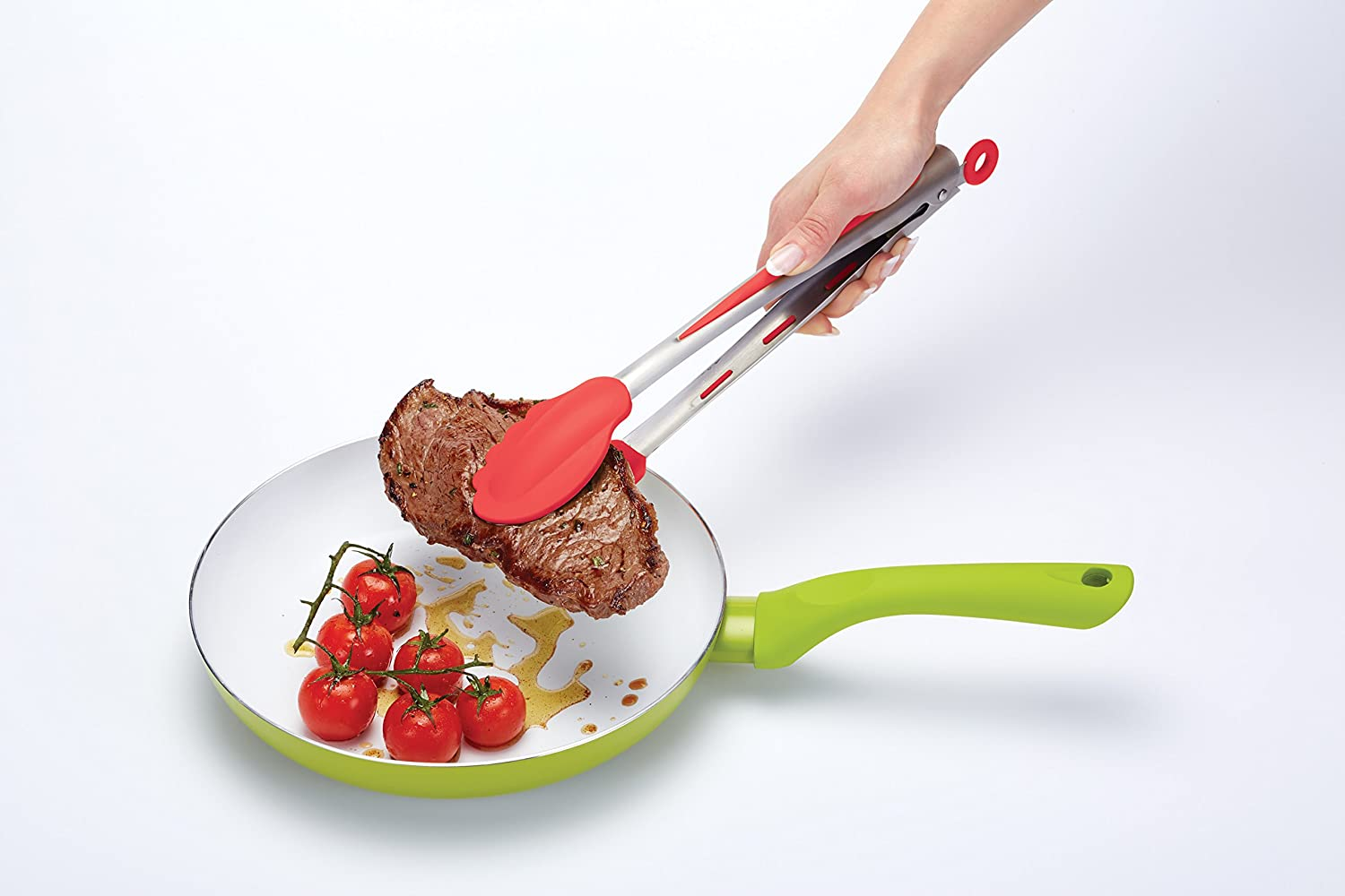 kitchen-craft-colourworks-silicone-food-tongs-with-red-soft-grip-30-cm