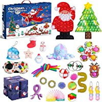 Fidget Advent Calendar 2021 Christmas Countdown Calendar 24 Days Sensory Fidget Toy Pack Novelty Decorations Gift Boxes…