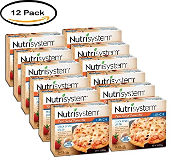 PACK OF 12 - Nutrisystem Feel Good Favorites Thick Crust Pizza, 3.8 oz