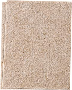 Self-Stick Furniture Felt Sheet for Hard Surfaces to Cut into Any Shape (2 pack) - Oatmeal, 4-1/2