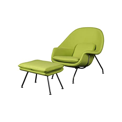 Wondrous Cashmere Womb Chair And Ottoman Simple Modern Fashiounge Lounge Chair And Ottomann Style In Living Room Green Dailytribune Chair Design For Home Dailytribuneorg