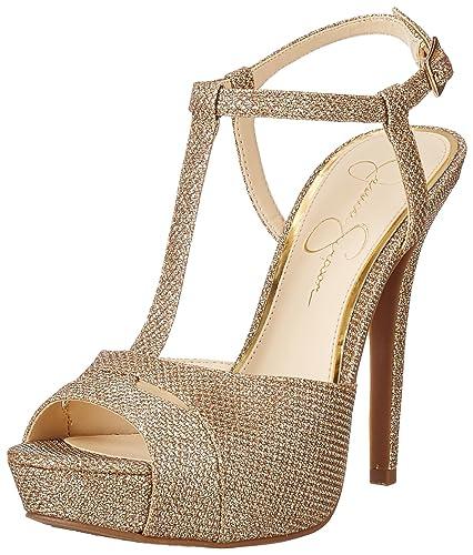 1f7f4c7681e Jessica Simpson Women s Barretta Dress Sandal Gold 5 ...