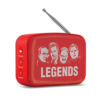 Saregama Carvaan Mini Telugu Bluetooth Speaker (Sunset Red)