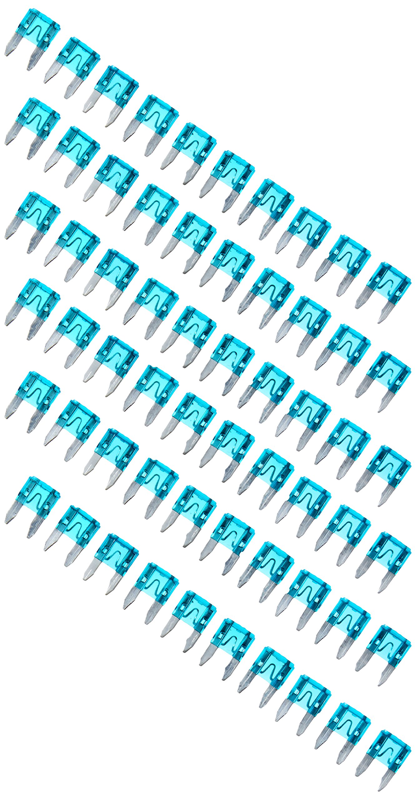 15A 15 Amp Auto Car Motorcycle Mini Blade Fuse Blue 60 Pieces