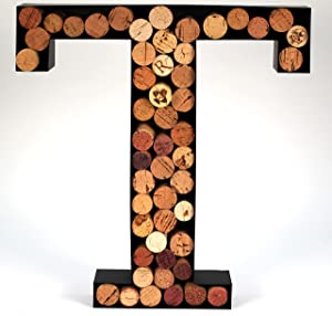 Wine Cork Holder Makes For Great Wine Accessories Perfect Monogrammed Gifts For Women To Store Wine Corks. Wine Decor or Wine Cork Holder Decor will Brighten Up Kitchen! (Letter