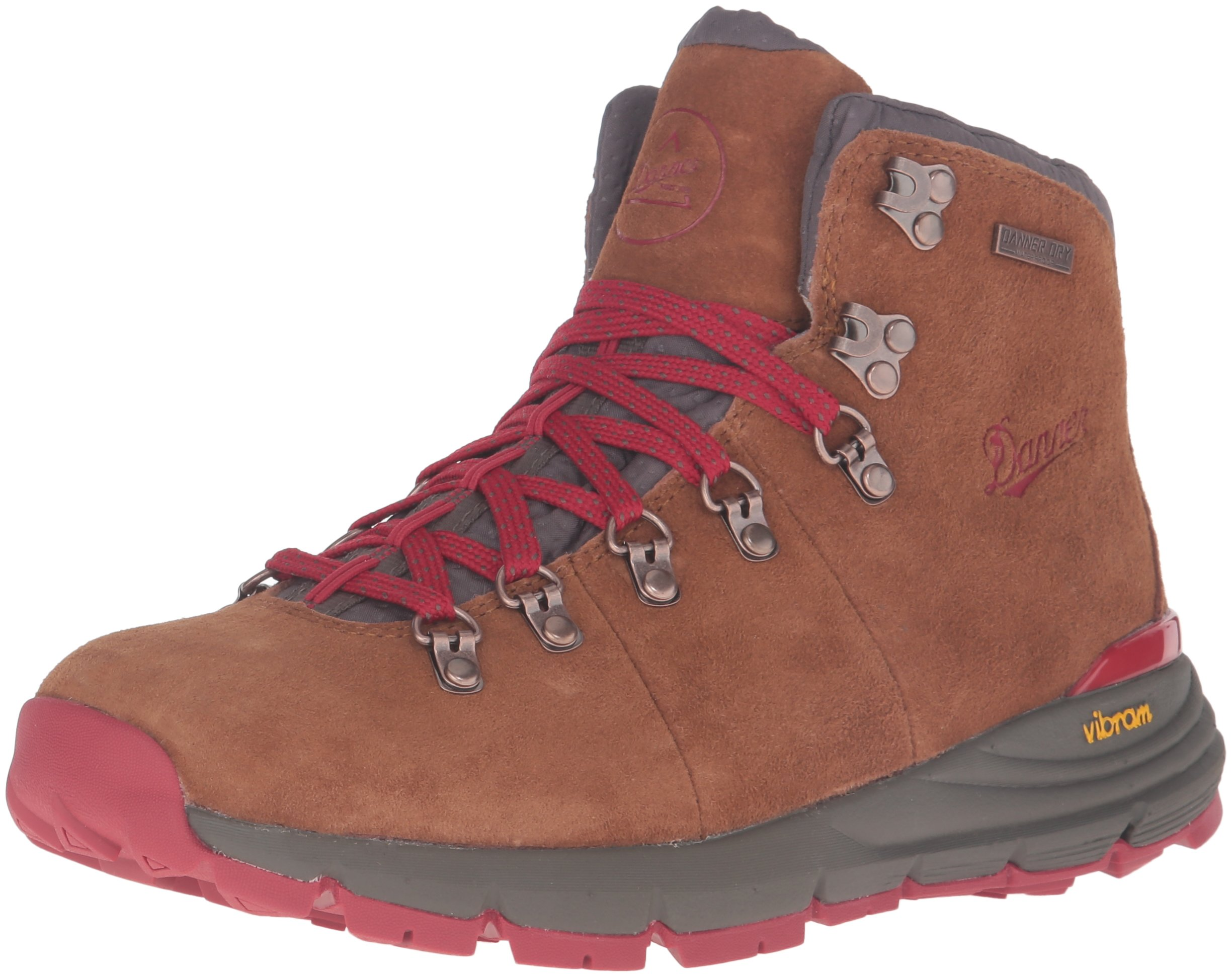 Danner Women's Mountain 600 4.5'' Hiking Boot, Brown/Red, 8.5 M US by Danner
