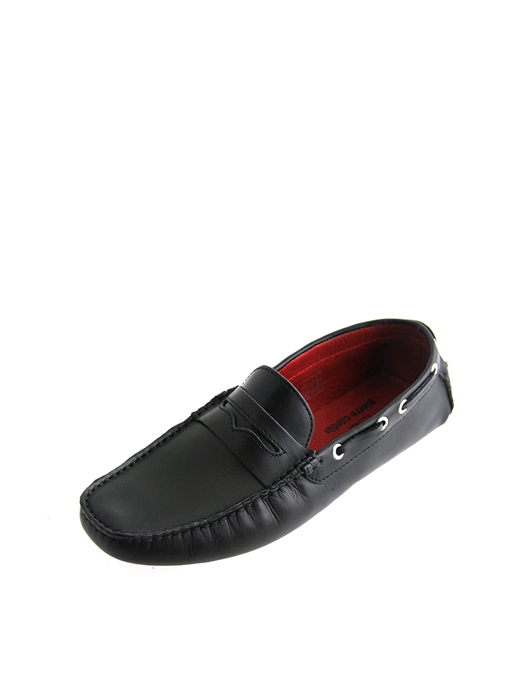 Pierre Cardin - Mocasines de Piel para hombre negro negro, color negro, talla 42 EU: Amazon.es: Zapatos y complementos