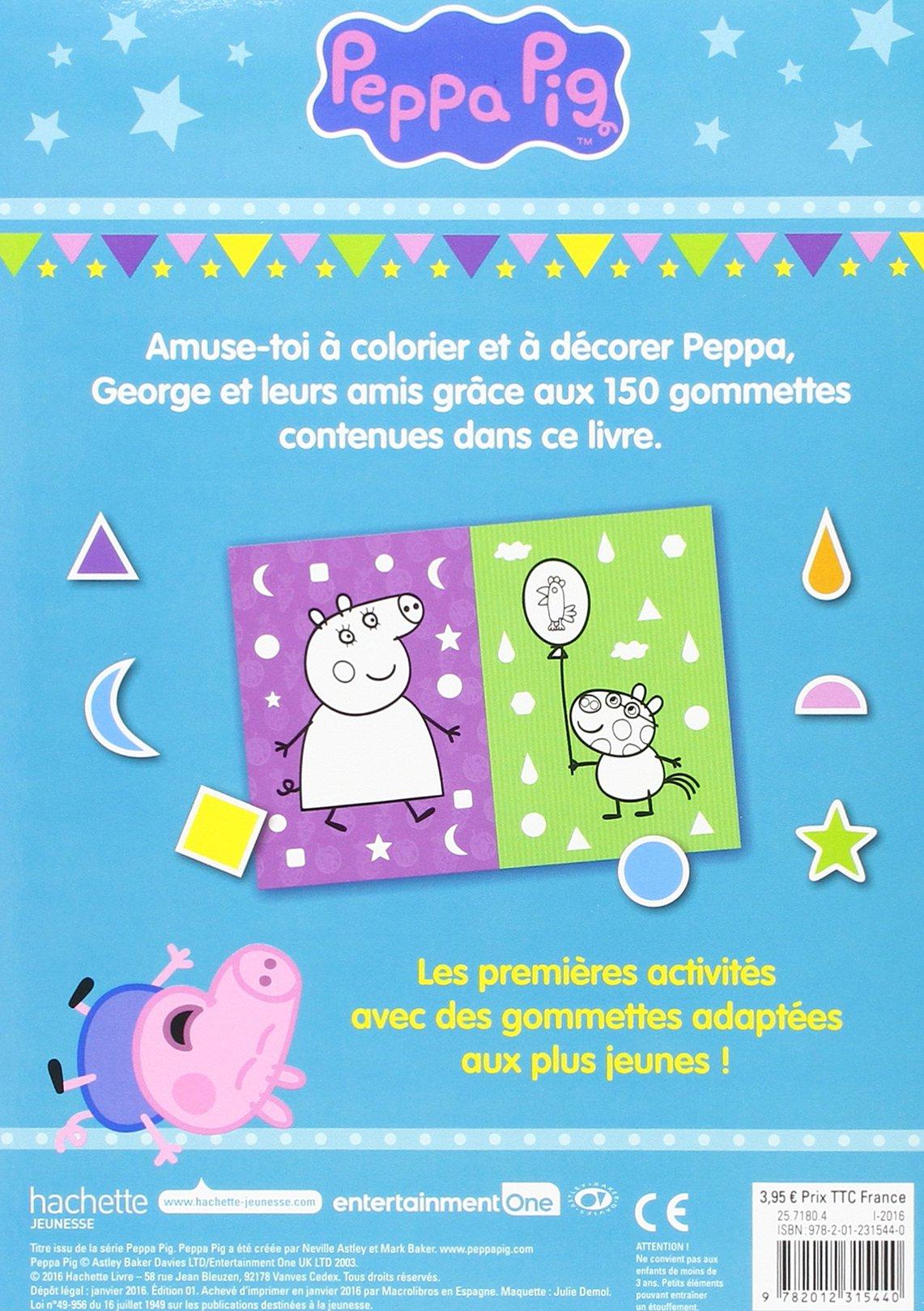 Amazon Peppa Pig Mon livre de gommettes 3 Neville Astley Mark Baker Livres