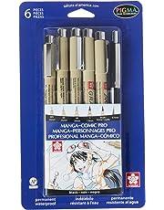 Sakura 50201 6-Piece Pigma Manga Comic Pro Drawing Kit