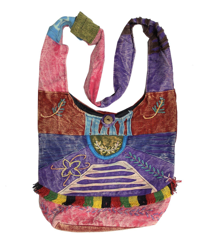 Lungta importen Hippie Hobo Sling Cross-Body-Spirale Peace Tasche Nepal