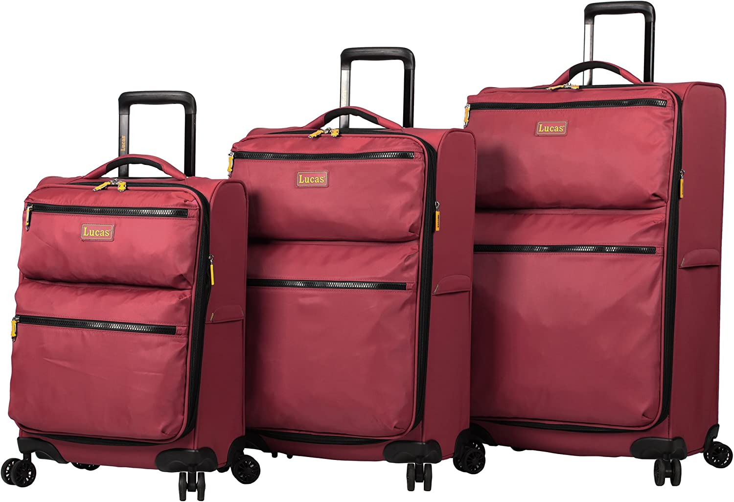YD Luggage Set Trolley Case Polyester//PC 2 Colors wear-Resistant Anti-Scratch TSA Combination Lock Scientific partition Dry and Wet Separation Mute Caster Large Capacity Boarding Storage Box