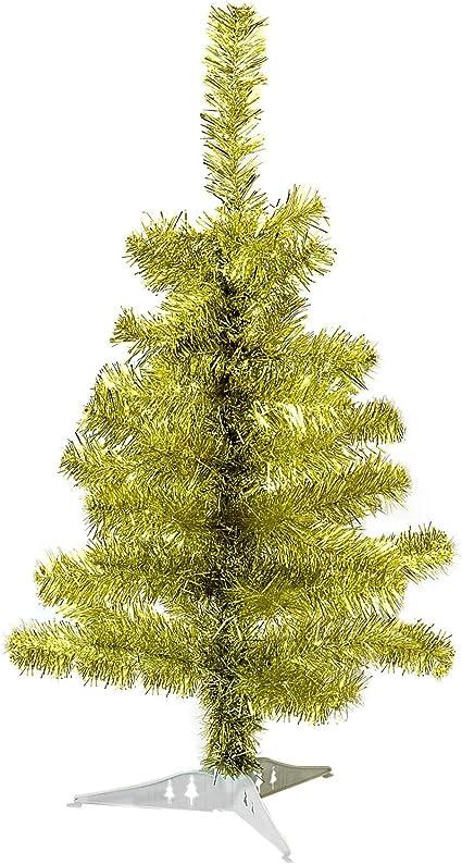 2ft//60cm Arbre de Noël Mini petit de Noël artificiel PIN traditionnelle avec support