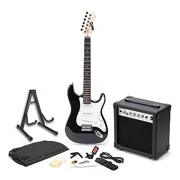 RockJam RJEGPKG elektrische Gitarre (Verstärker, Tuner, Kapodaster ...