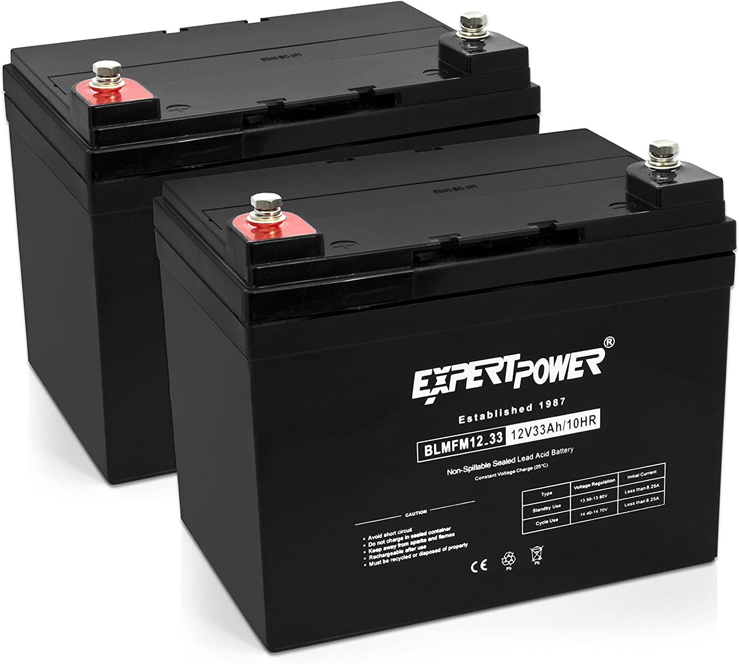 12 V 35 AH EXP 12350 Sealed Lead Acid Battery Deepcycle Solar Energy Storage 2 Pack