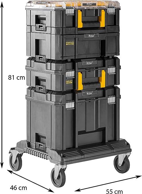 Stanley Fatmax - Sistema modular de almacenamiento gama PRO-STACK(4 cajas para herramientas + plataforma con ruedas): Amazon.es: Bricolaje y herramientas