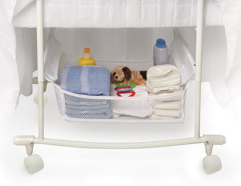 Amazon.com  Badger Basket Majesty Baby Bassinet with Canopy White  Baby & Amazon.com : Badger Basket Majesty Baby Bassinet with Canopy ...
