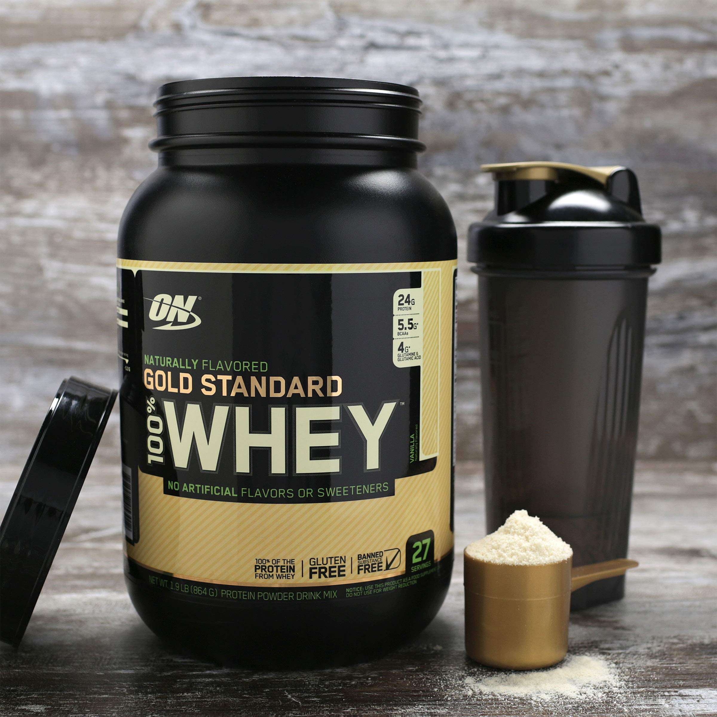 OPTIMUM NUTRITION GOLD STANDARD 100% Whey Protein Powder, Naturally Flavored, 4.8 Pound by Optimum Nutrition (Image #5)