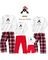 Santa's Helper Penguin White Shirt Pant Set-Youth, L/S, CRB Pants
