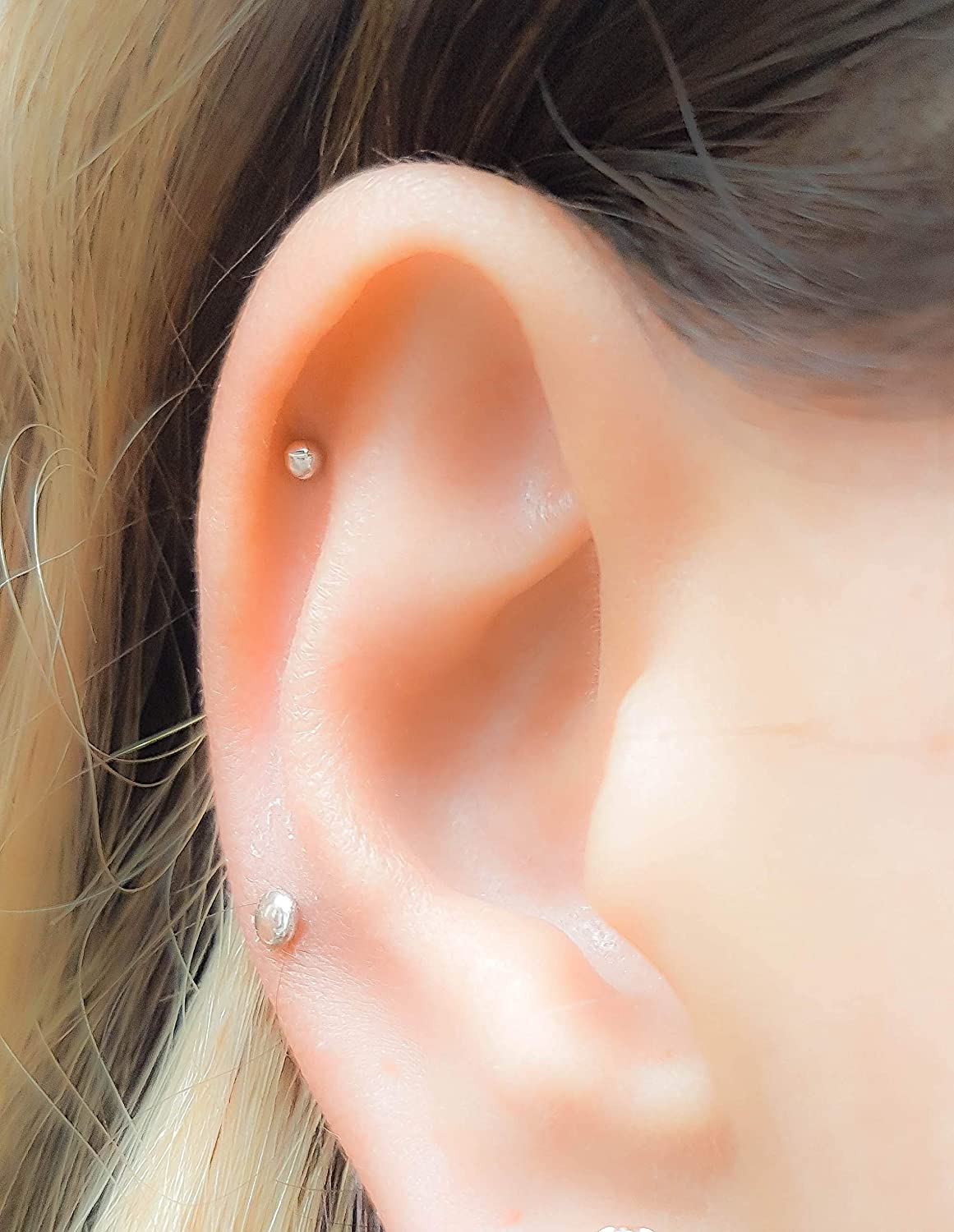 Helix Cartilage Stud Super Tiny Dot Earring Piercing 2mm 3mm 4mm