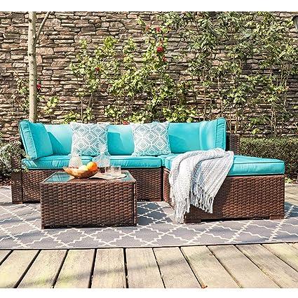Amazon.com: OC Orange-Casual Outdoor Furniture - Conjunto de ...