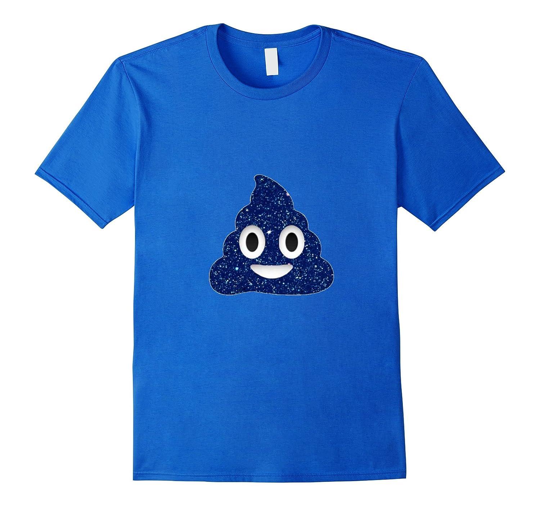 a47d5bf5c37e Blue Sparkle Poop Emoji t-shirt Pretty Color Pile of Poop-BN – Banazatee