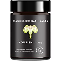 Caim & Able Scented Magnesium Chloride Flakes Bath Salts (Nourish 850g) Coconut Milk & Lime Essential Oils Pampering Spa Foot Soak Luxury Birthday Wife Epsom Salt Bath Bombs Alternative