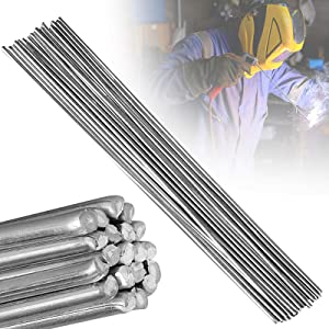 Aluminum Welding Rods, EEEkit 20-Pack Universal Low Temperature Aluminum Welding Cored Wire for Electric Power, Chemistry, Food, Silver 2mm330mm