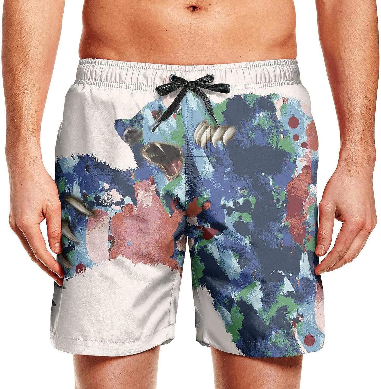 YOIGNG Boardshorts Fish Trippy Mens Quick Dry Swim Trunks Beach Shorts