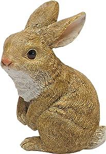 Design Toscano QM200802 The Bunny Den Garden Sitting Rabbit Statue, Full Color