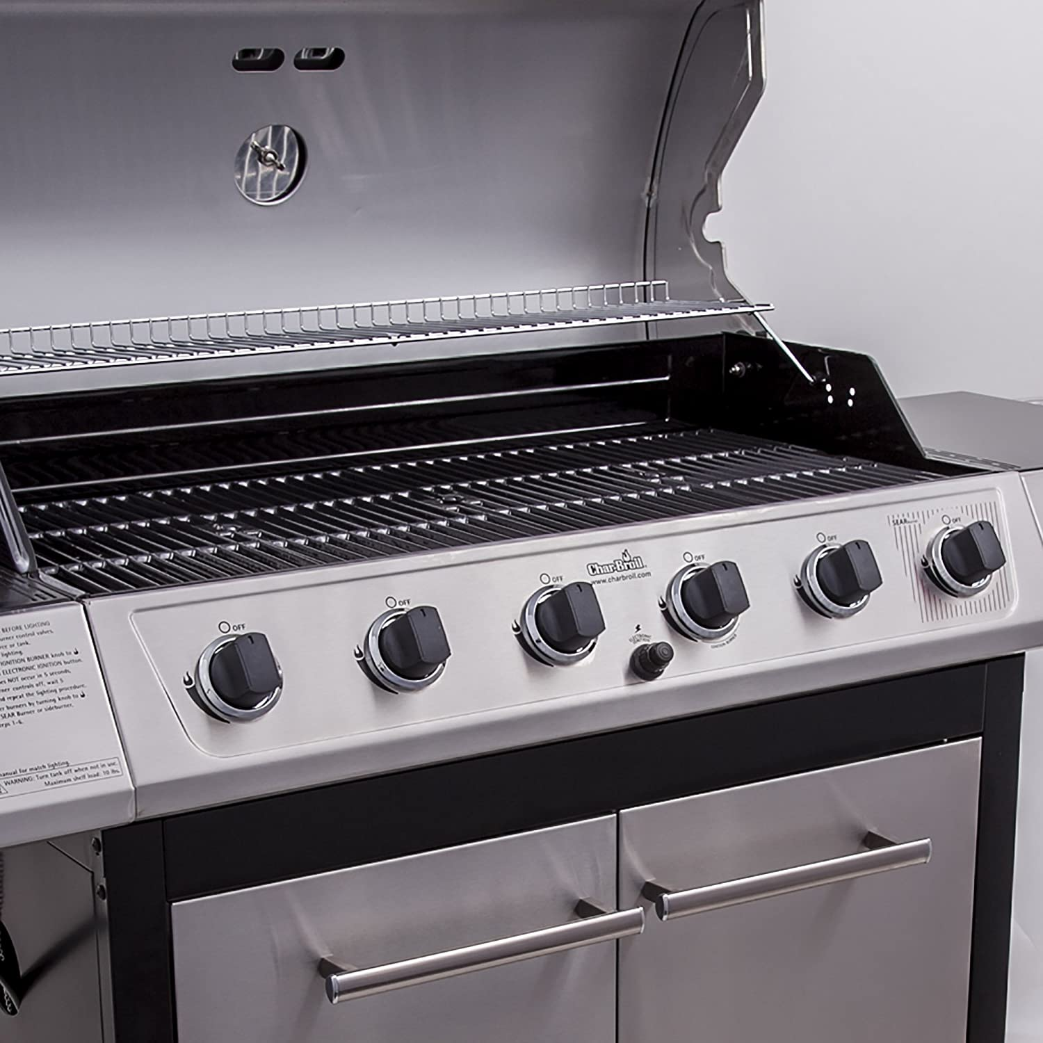 Amazon.com : Char-Broil Classic 6-Burner Gas Grill : Freestanding Grills :  Patio, Lawn & Garden