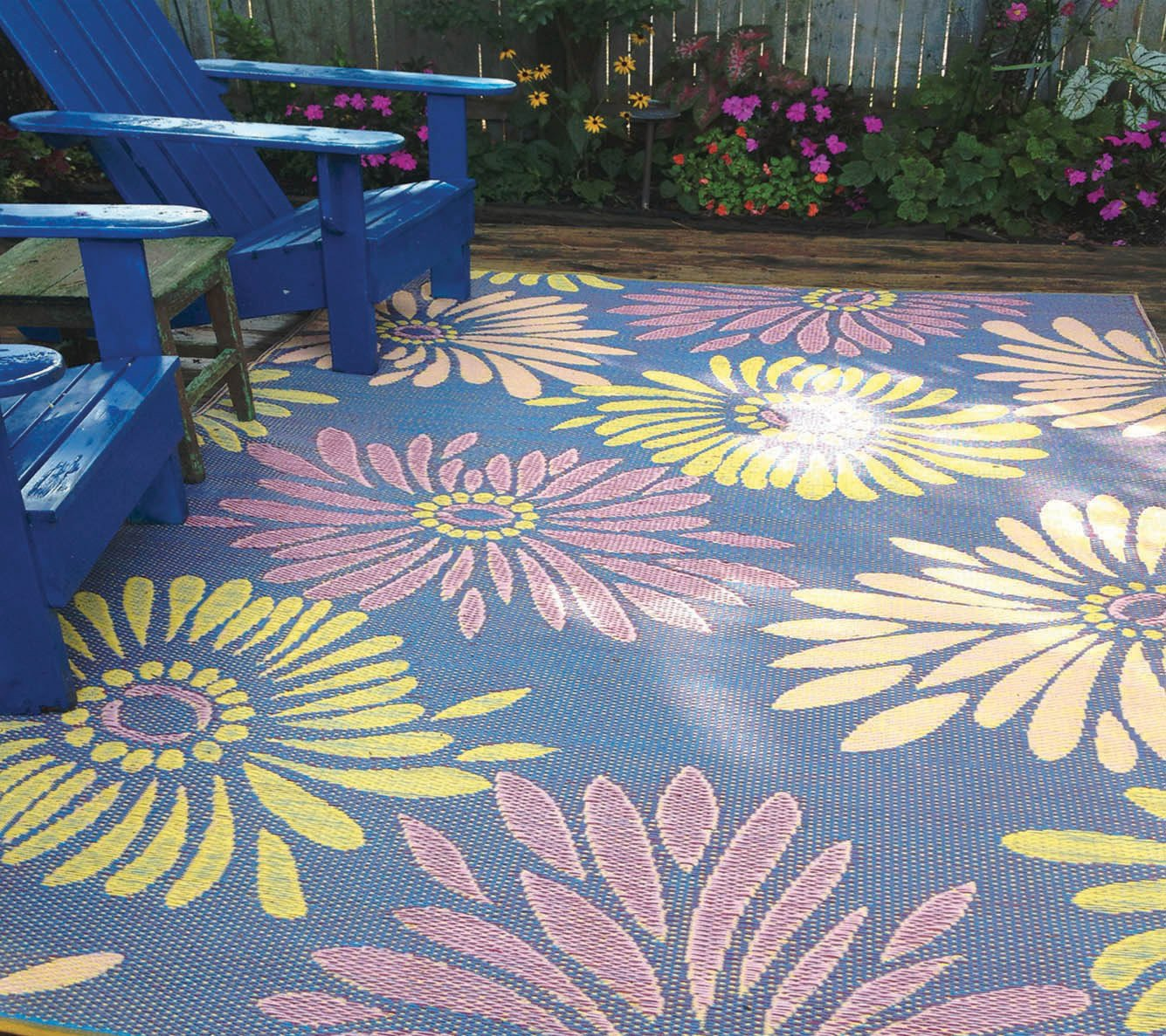 Mad Mats Daisy Indoor/Outdoor Floor Mat, 6 by 9-Feet, Violet by Mad Mats® (Image #2)