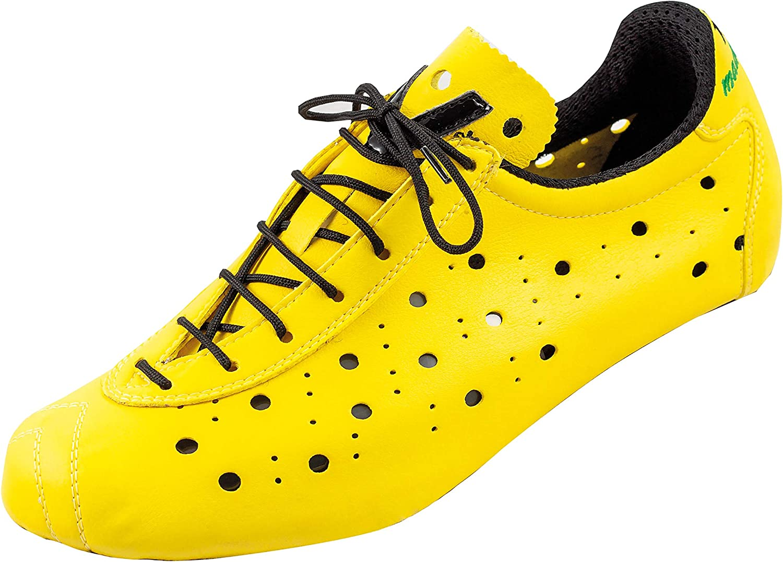 Vittoria 1976 Classic SPD Nylon TPU Sole Cycling Shoes Yellow