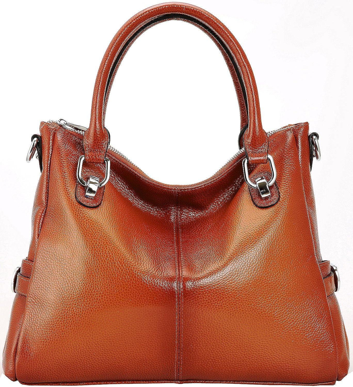 1e754c984e3f durable modeling Kenoor Vintage Soft Leather Tote Shoulder Bag Lady ...