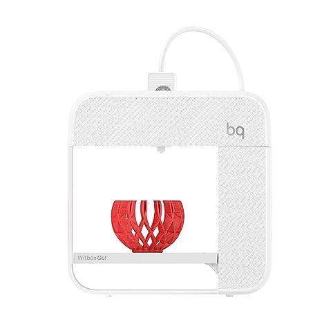 BQ Witbox Go! - Impresora 3D (Qualcomm Snapdragon 410, Memoria 8 GB, Android M, reducción de Ruido, LED de notificaciones, NFC, USB) Blanco