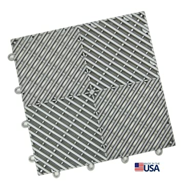 IncStores Vented Grid Loc Tiles 12inx12inx1 2in Interlocking Garage Flooring 24pack