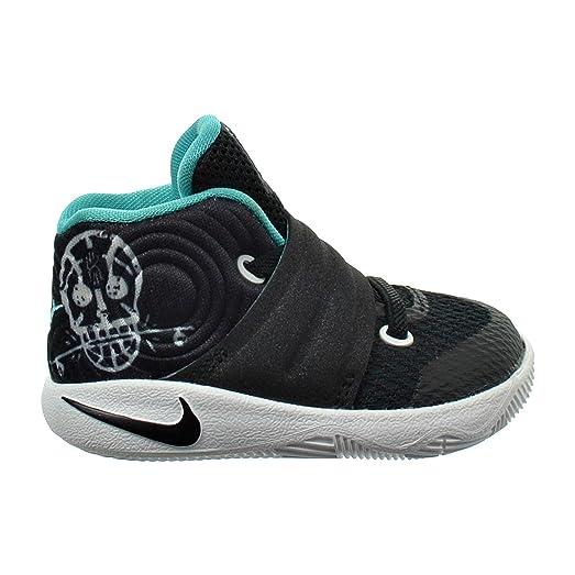Nike Kyrie 2 Toddler Boys Shoe (BLACK-HYPER JADE-WHITE, 7C)